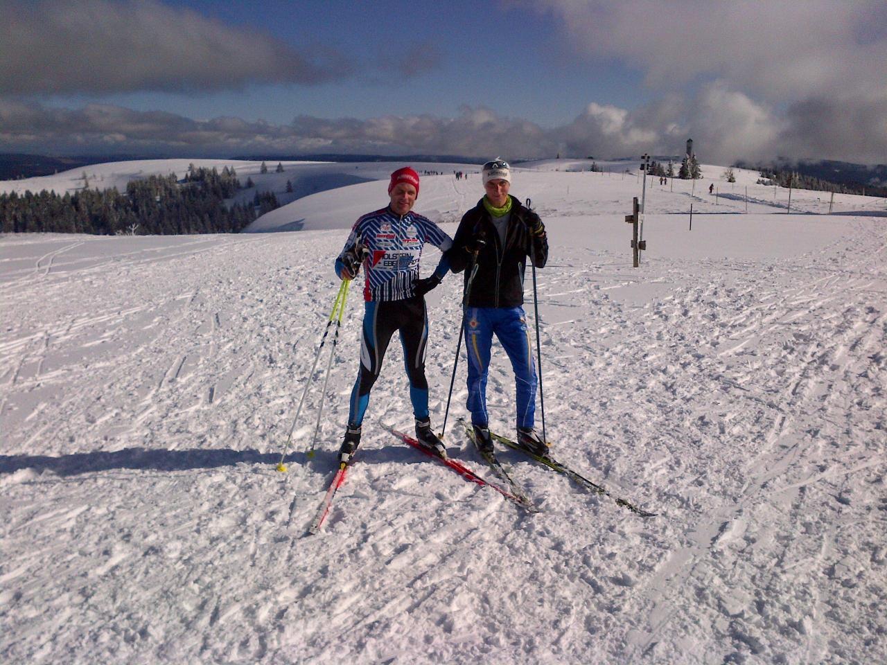 Dirk und Daniel auf dem Feldberg