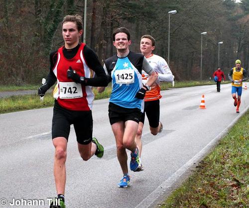 Winterlaufserie Rheinzabern 2013/2014: Daniel Debertin beim 10km Lauf