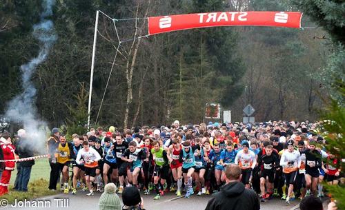 Winterlaufserie Rheinzabern 2013/2014: Start des 10km Laufs