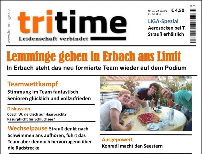 TriTime 2015 Erbach - Vorschau