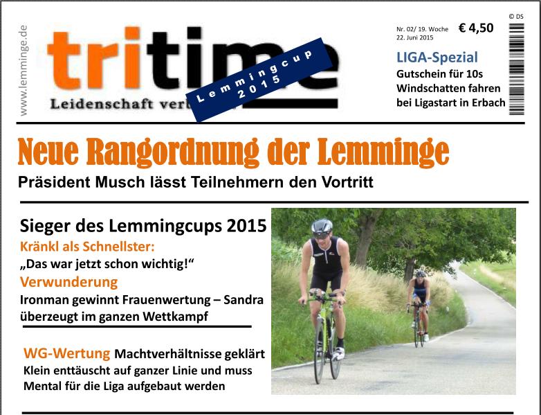 TriTime 2015 Lemmingcup - Vorschau