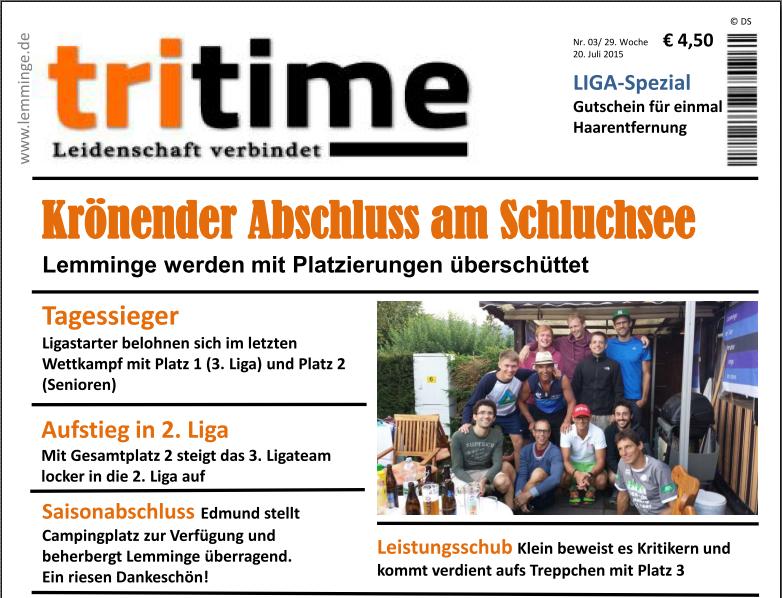 TriTime 2015 Schluchsee - Vorschau